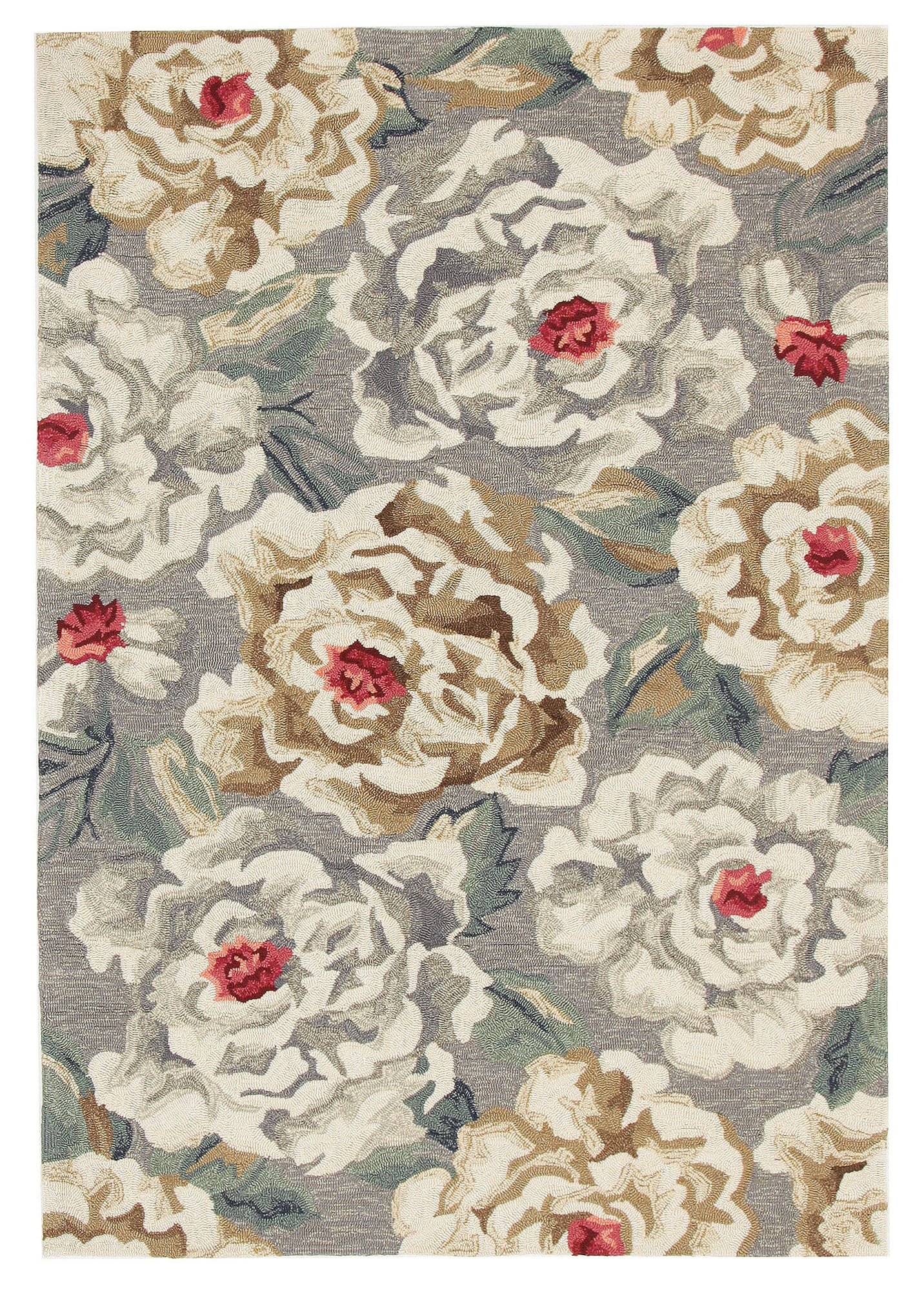Ping Grey Green Hand Tufted Recycled Pet Outdoor Rug Temple