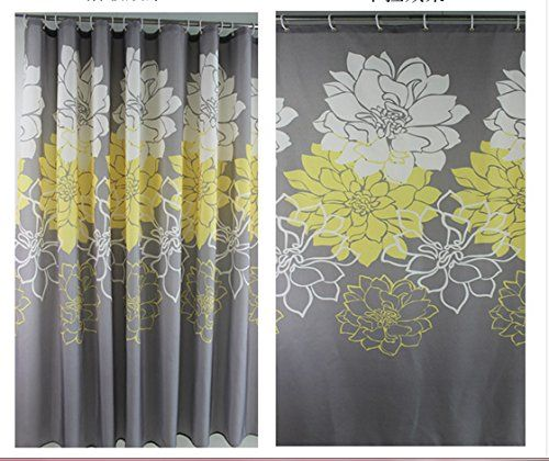 AmazonSmile Eforgift Floral Printed Fabric Shower Curtain Polyester Waterproof No More Mildews Bathroom Curtains