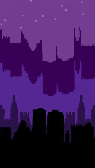 Night Pixel City The iPhone Wallpapers Pixel art