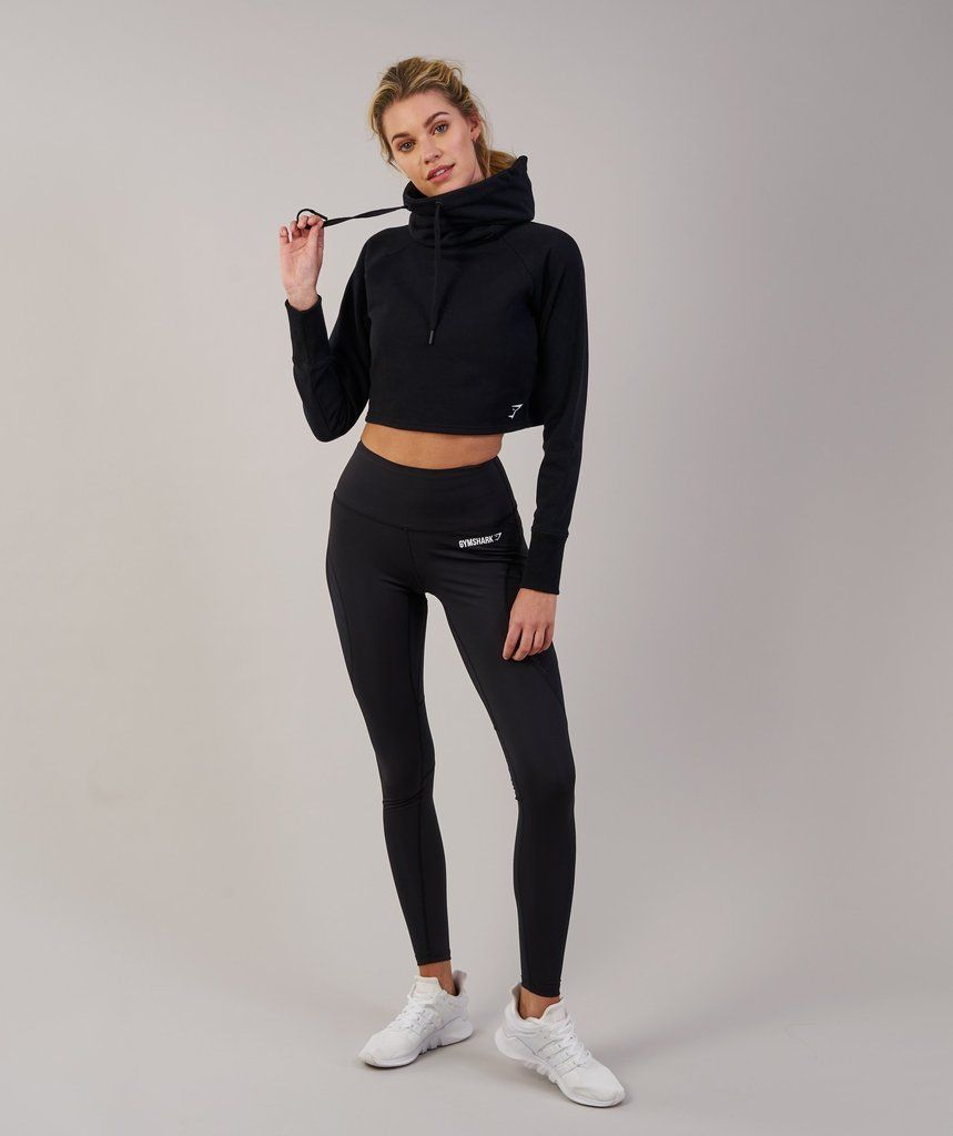 b17311634b98df Gymshark Slouch Cropped Hoodie - Black 1 | Clothes and undies ...