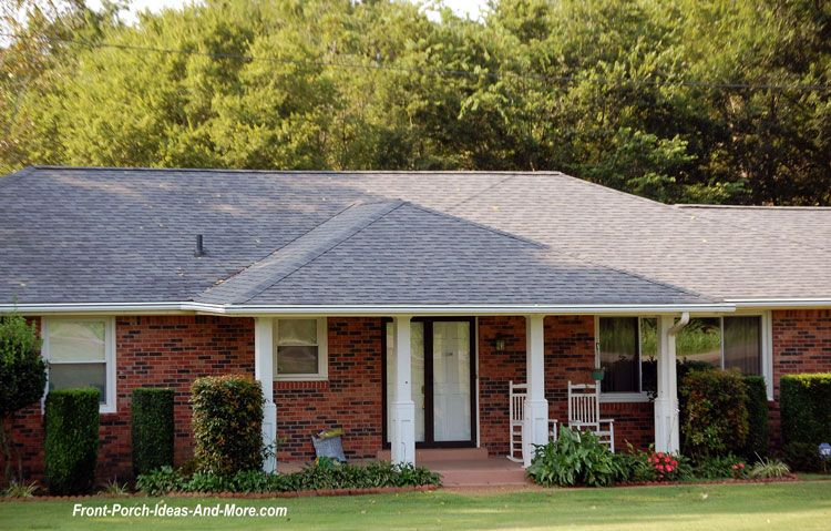Hip Roof On A Ranch Home Design Porch Roof Design Front Porch Design Ranch House Designs