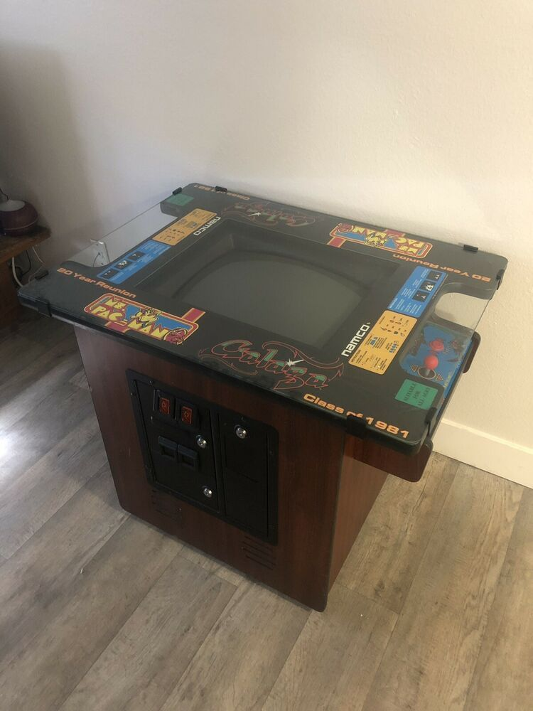 ebay sponsored ms pacman galaga cocktail table arcade jukeboxes rh pinterest com