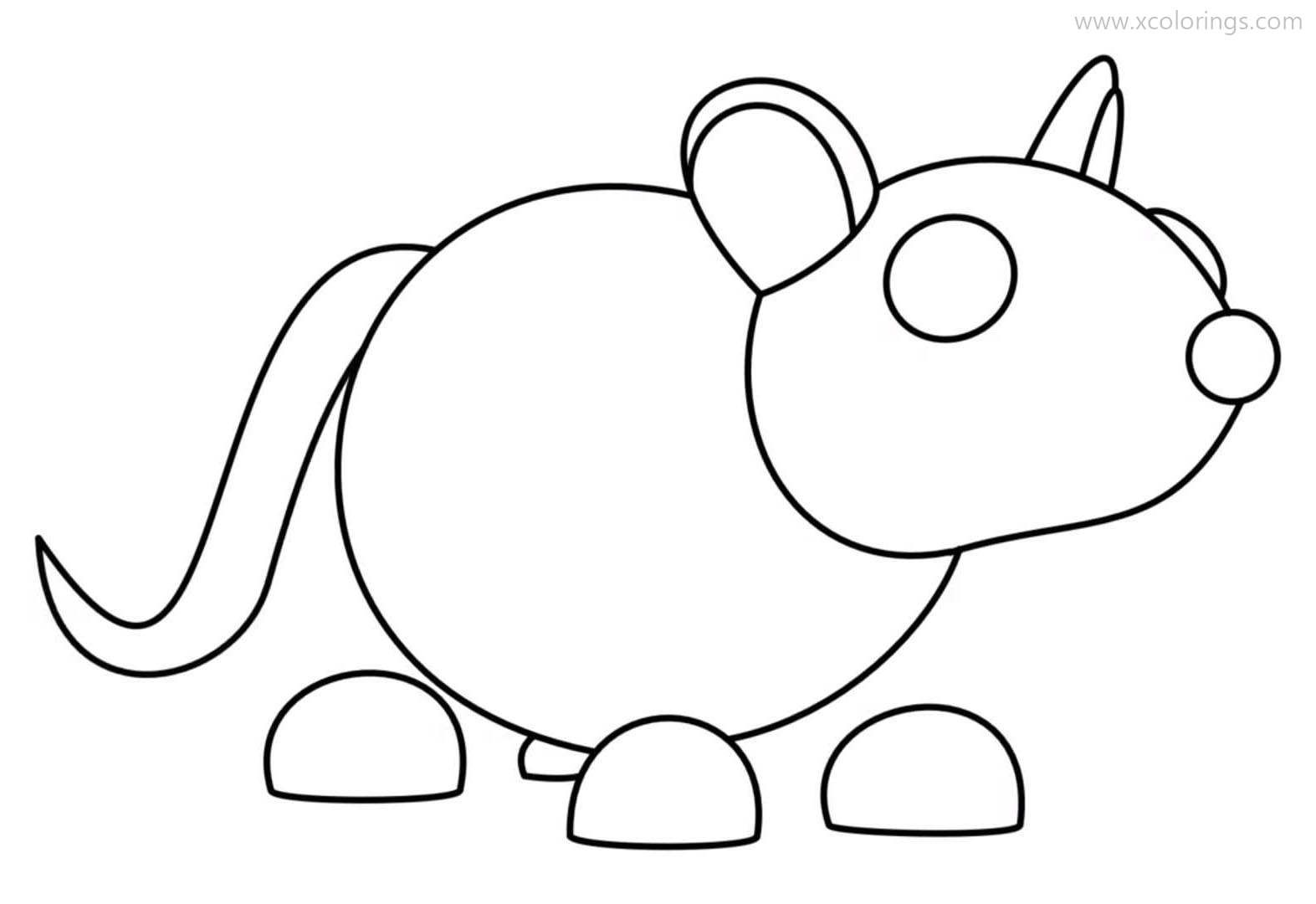 Roblox Adopt Me Coloring Pages Golden Rat Pets Drawing Coloring Pages Adoption