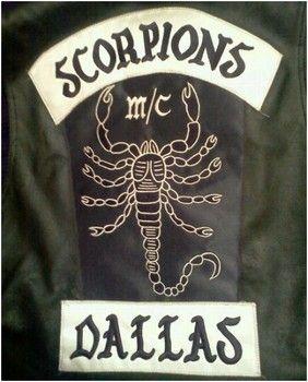 scorpions mc - dallas | colors, cuts, rags, patches & ch