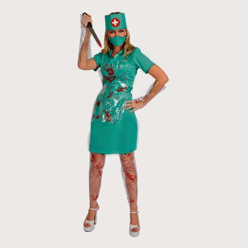 Fashion World Get Redy For Bloody Halloween Fashion Blodig Kirur - green dress halloween costume ideas