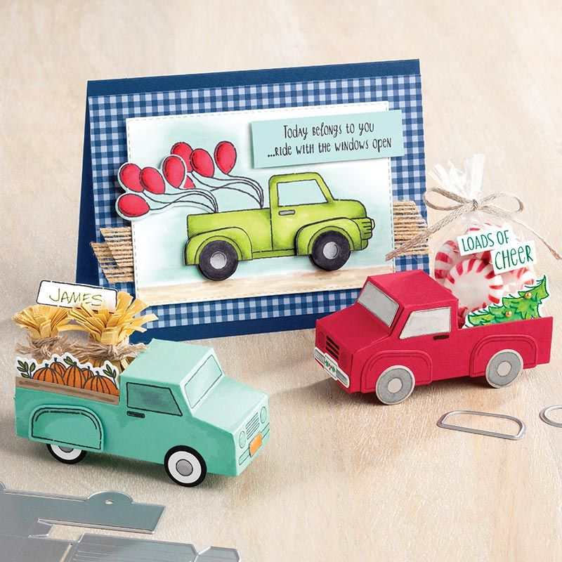 Ride With Me Bundle By Stampin Up Video Truck Stamps Stampin