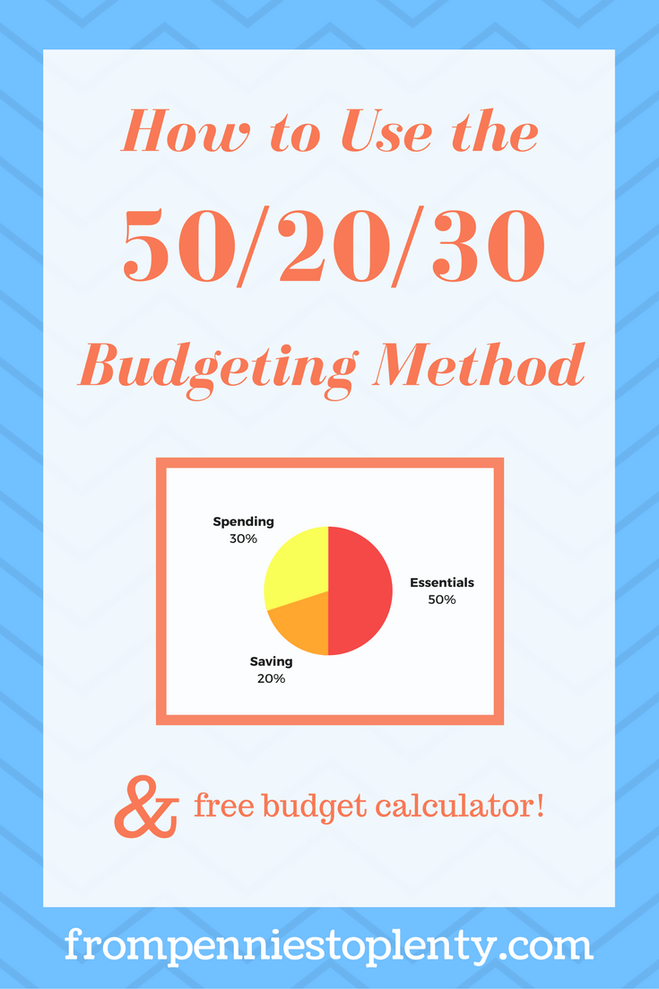 how to use the 50 20 30 budgeting method free budgeting calculator