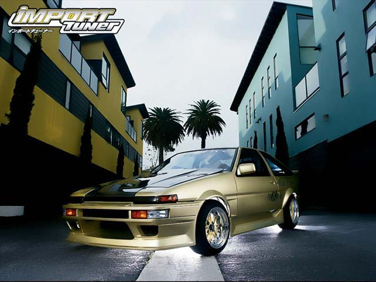 Toyota AE86 Trueno Front Drivers Side View