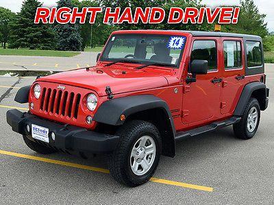 ebay jeep wrangler unlimited sport utility 4 door 2014 right hand rh pinterest com au