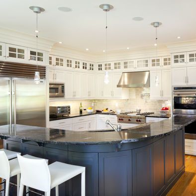 love the shape of this big l shaped kitchen island design pictures rh pinterest com
