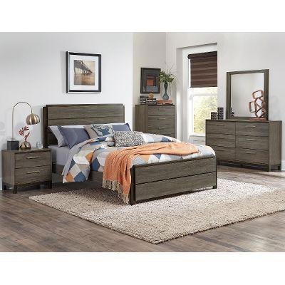 clearance gray black contemporary 4 piece queen bedroom set oxon rh pinterest cl