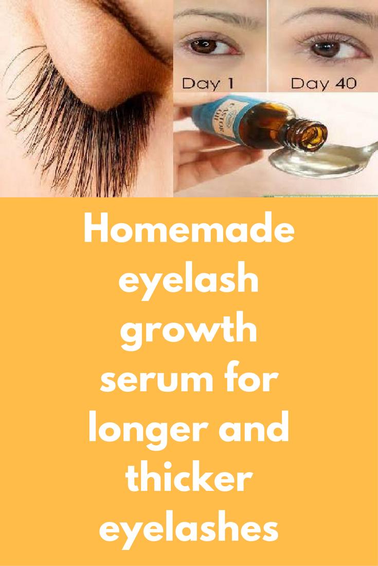 Homemade eyelash growth serum for longer and thicker