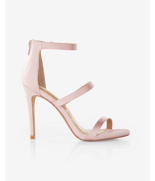 77ad790d9e Satin Heeled Sandals Pink Women's 7.5 | Products | Sandals, Heels ...