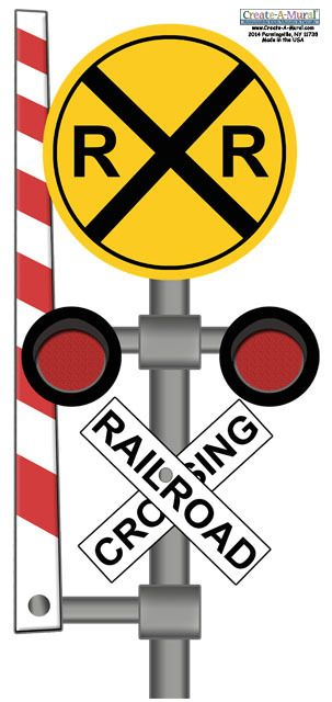 Rail Road Sign Wall Decal | Wall decals, Walls and Create