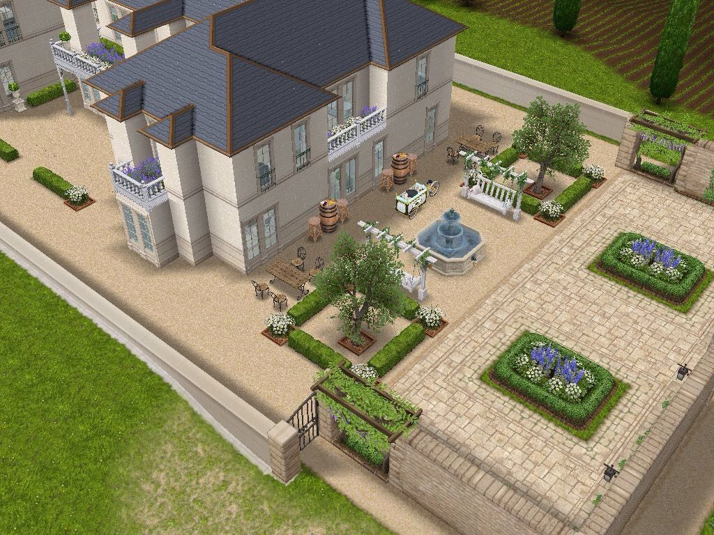 house 108 french chateau full view sims simsfreeplay rh pinterest com