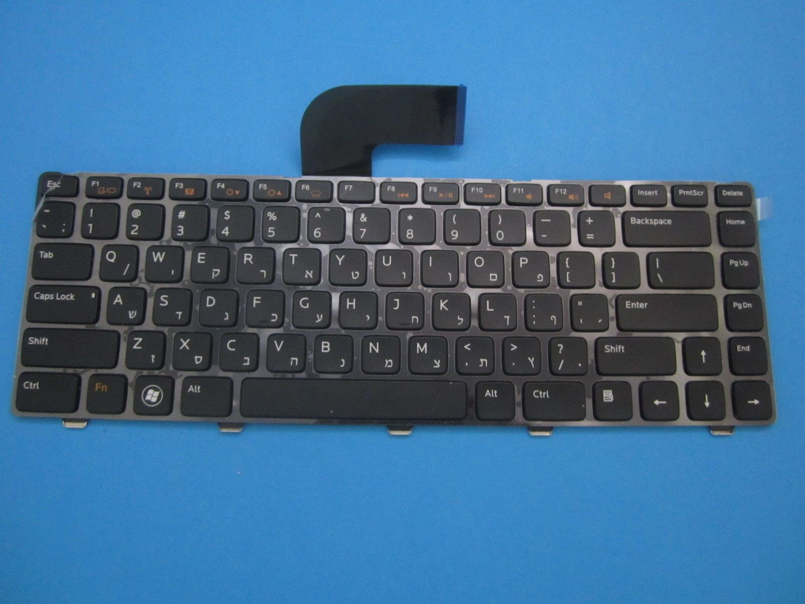 Keyboard HEBREW Dell XPS 15 l502x Vostro 3350 3550 3555 N5050 03FYF7 Backlit