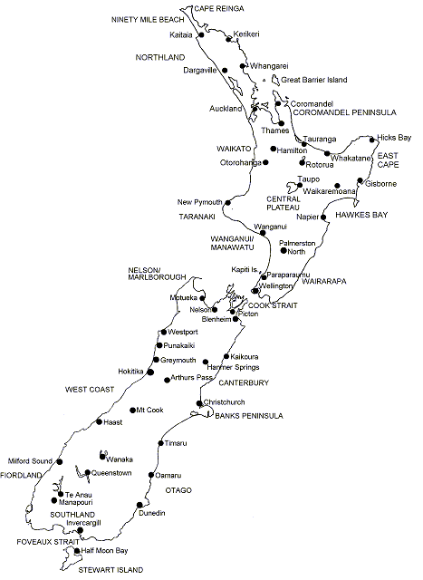new zealand map black and white Google Search All around the