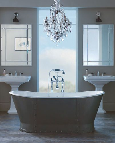 symmetrical bliss in the bathroom dark moody and extremely sexy rh pinterest com