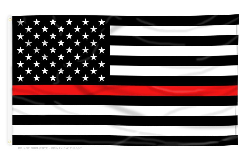 Thin Red Line American Flag With Grommets Thin Red Line Flag Back The Blue Flag Police Flag