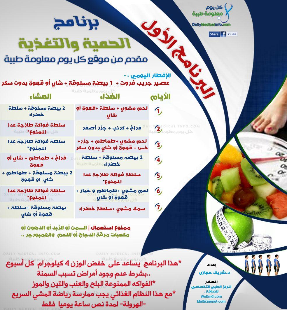 للتخسيس جدول رجيم صحي لانقاص الوزن