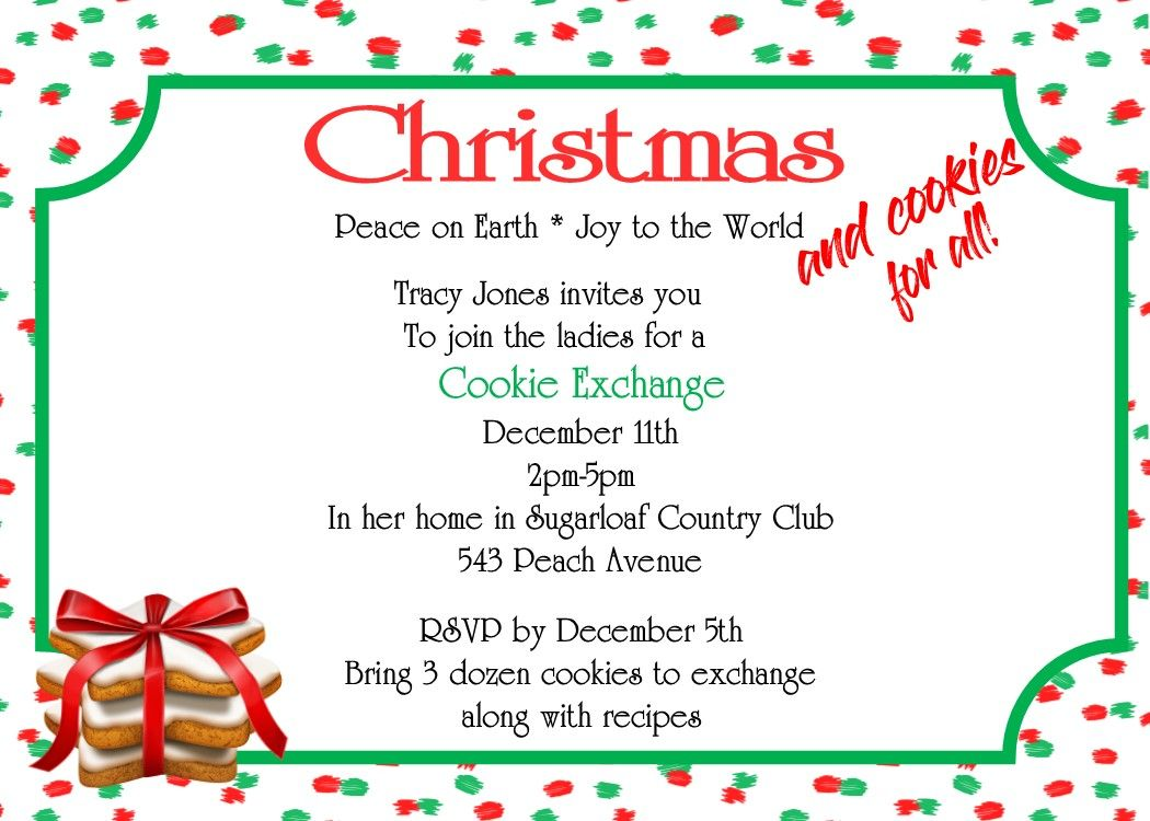 Peace on Earth and Cookies for All Christmas Cookie Exchange ...