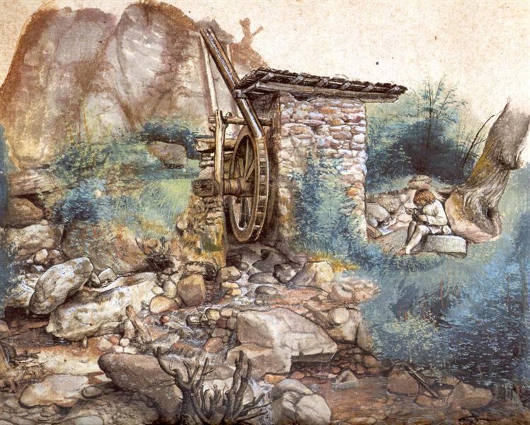 Watermill At The Montasa Albrecht Durer Albrecht Durer