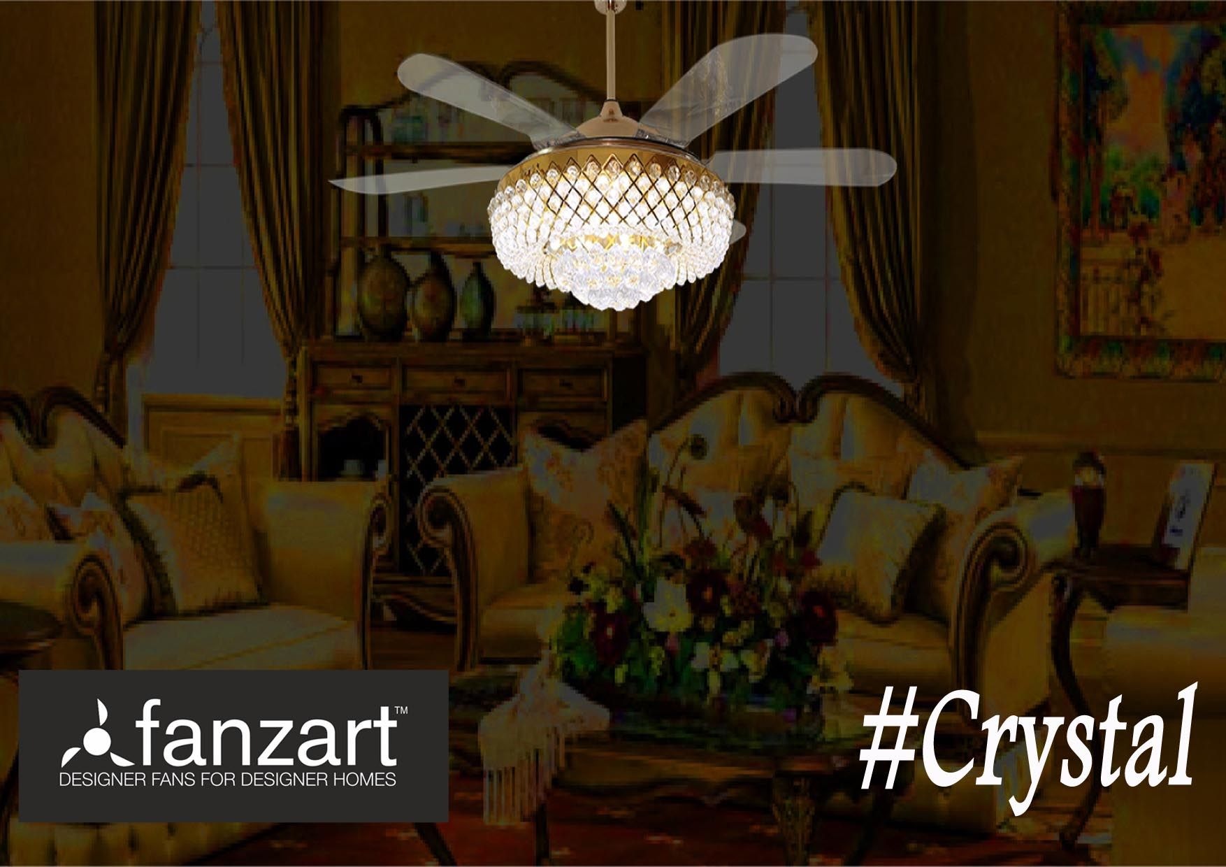 Buy exciting range of crystal ceiling fans