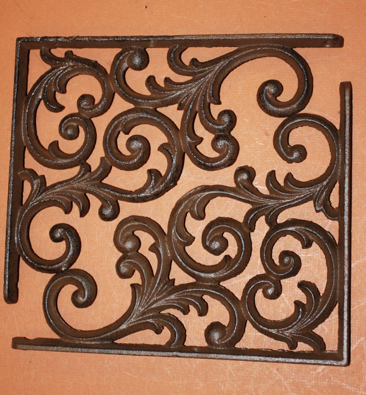 Rustic Scroll Design: 12) Pcs, Shelf Brackets, Traditional, Swirl, Scroll, Fancy