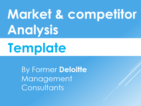 Competitor Analysis Template Work It Pinterest Competitor
