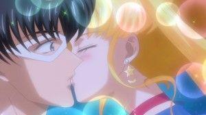 Sailor Moon Crystal Act 8 - Tuxedo Mask and Sailor Moon's first consensual kiss