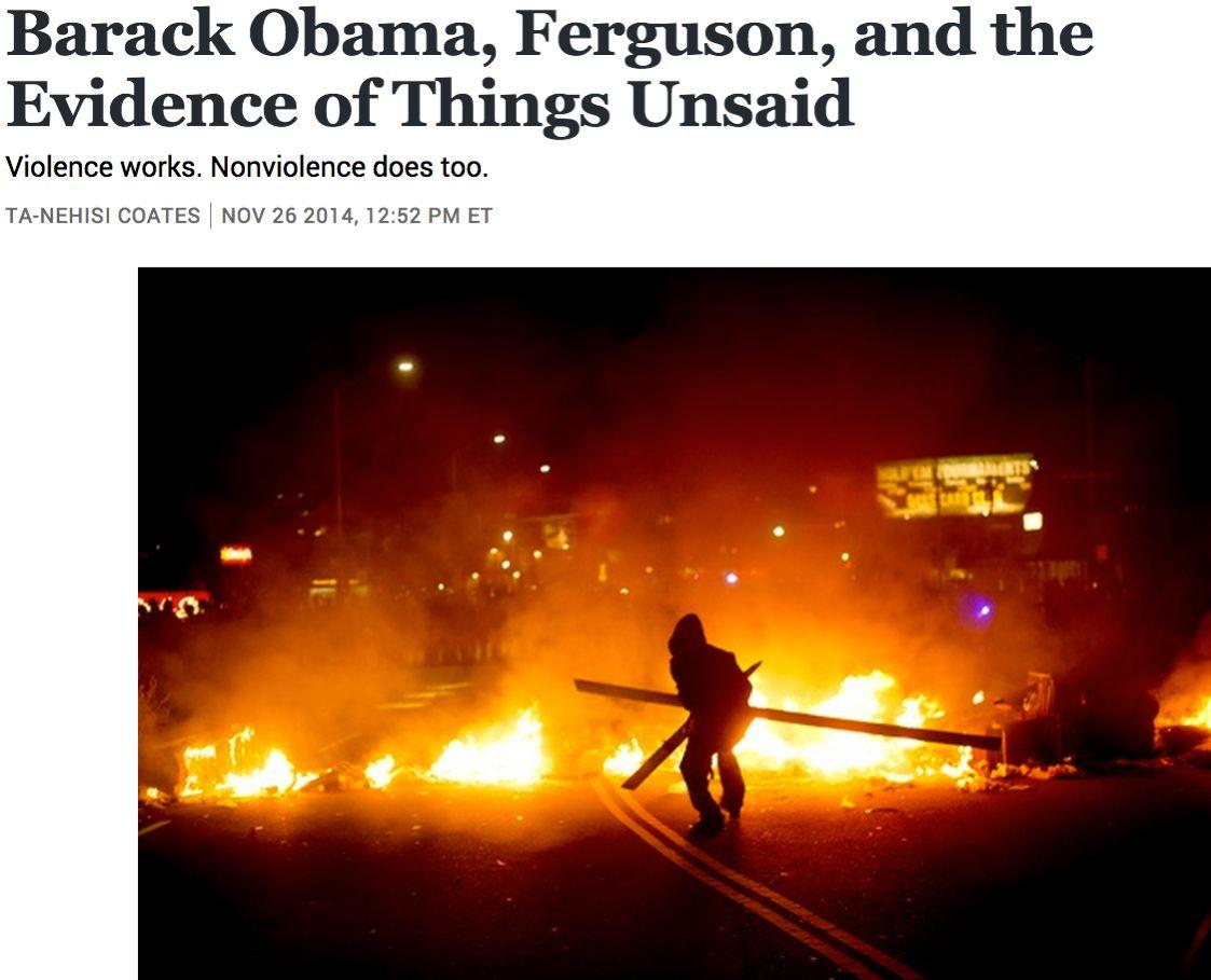 Barack Obama, Ferguson, and the Evidence of Things Unsaid ➤ http://www.theatlantic.com/politics/archive/2014/11/barack-obama-ferguson-and-the-evidence-of-things-unsaid/383212/?single_page=true - 2014 11 26