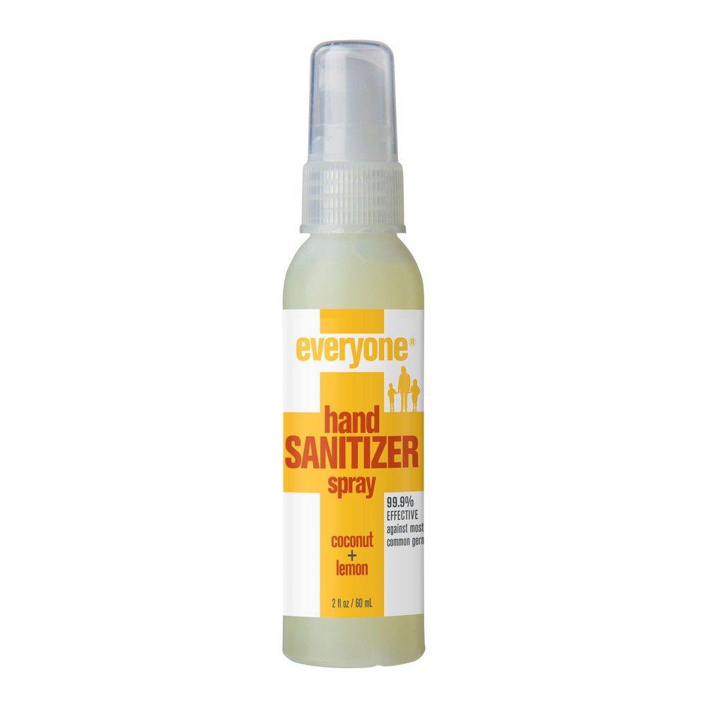 Everyone Natural Coconut Lemon Hand Sanitizer Spray 2 Fl Oz