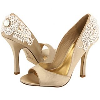 Good Champagne Colored Wedding | The Beauty Of Champagne Bridal Shoes |  WedWebTalks Pictures