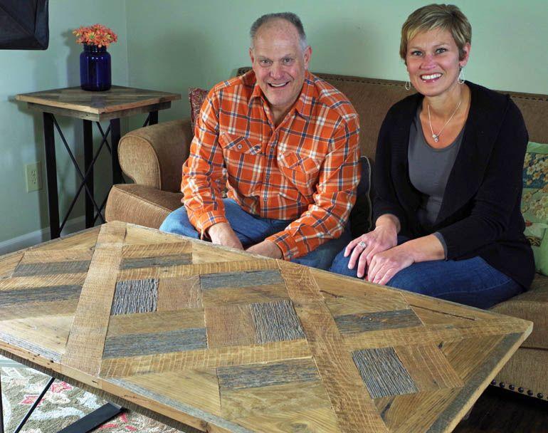 Rustic Parquet Table With Metal Legs Custom Furniture Design Custom Table Parquet