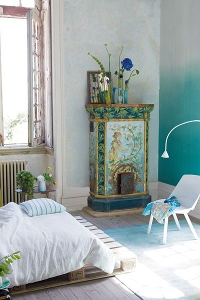 gradient ombre wall grey to turquoise teal when life gives you rh pinterest com