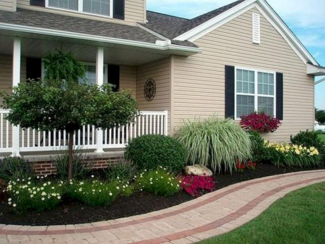 Cool 49 Beautiful Front Yard Landscaping Inspiration