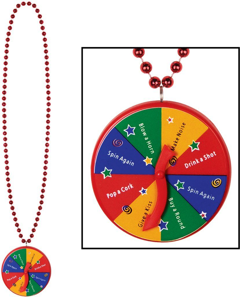 Beads with new year spinner medallion case pack 24