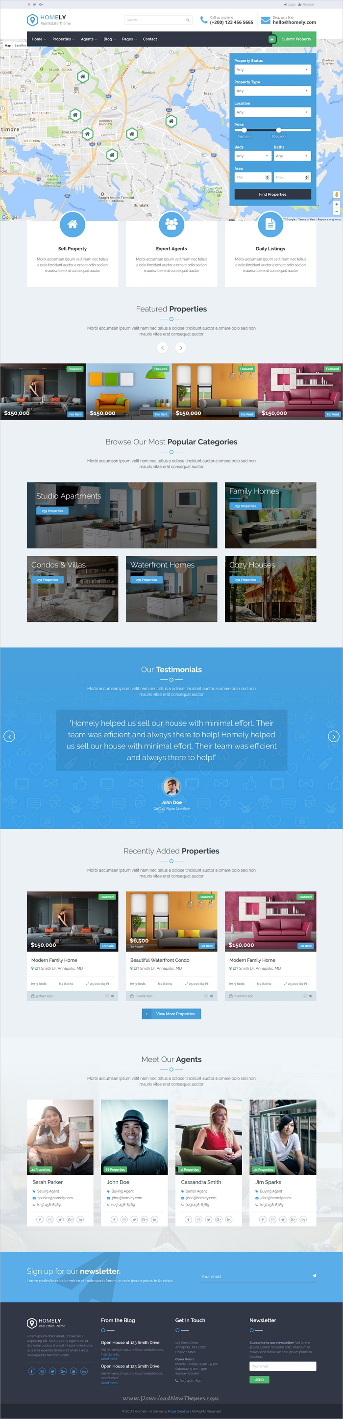 homely real estate html template property listing creative