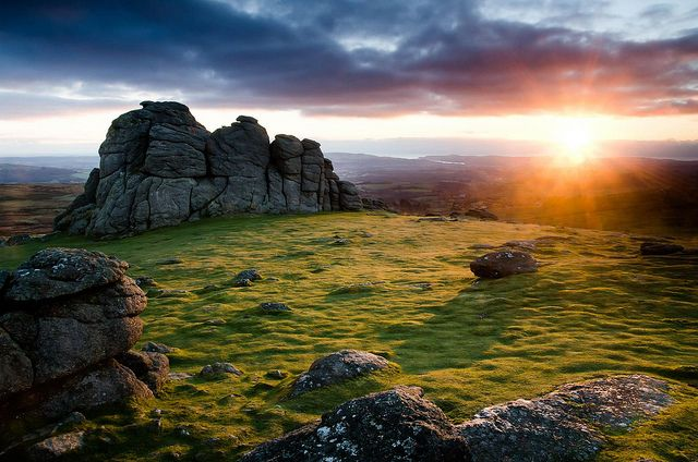 Hay Tor Sunrise by Bob Small photography., via Flickr