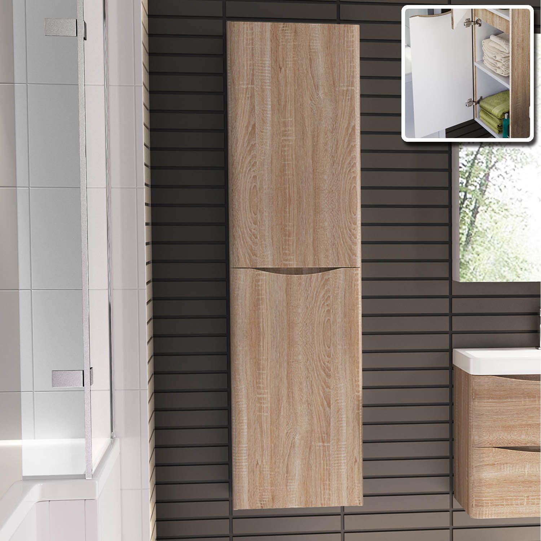 austin light oak 1500mm wall mounted storage cabinet bathempire rh pinterest com