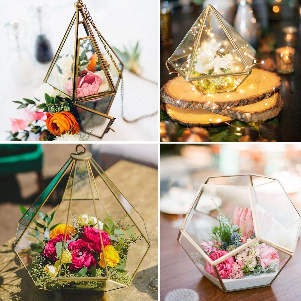details about geometric lanterns candle holders flower holder rh pinterest com