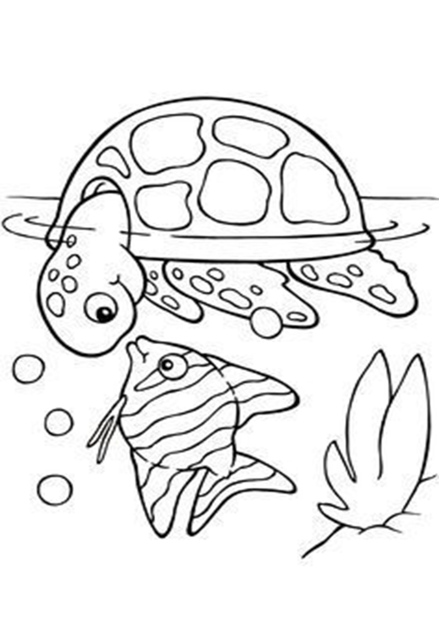Free Easy To Print Fish Coloring Pages In 2020 Turtle Coloring Pages Animal Coloring Pages Fish Coloring Page