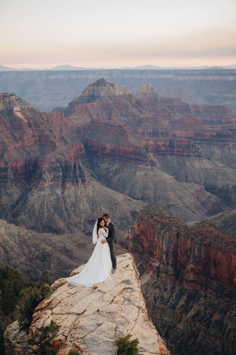 North Rim Bridal Session At Grand Canyon National Park Az