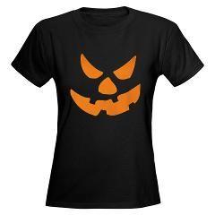 Evil Pumpkin halloween Women's Dark T-Shirt by MaNia Creations