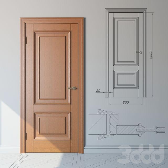 Классическая дверь из дуба стандартный модельный ряд