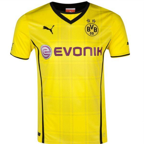 5795fb603 13-14 cheap Borussia Dortmund Home Jersey Shirt
