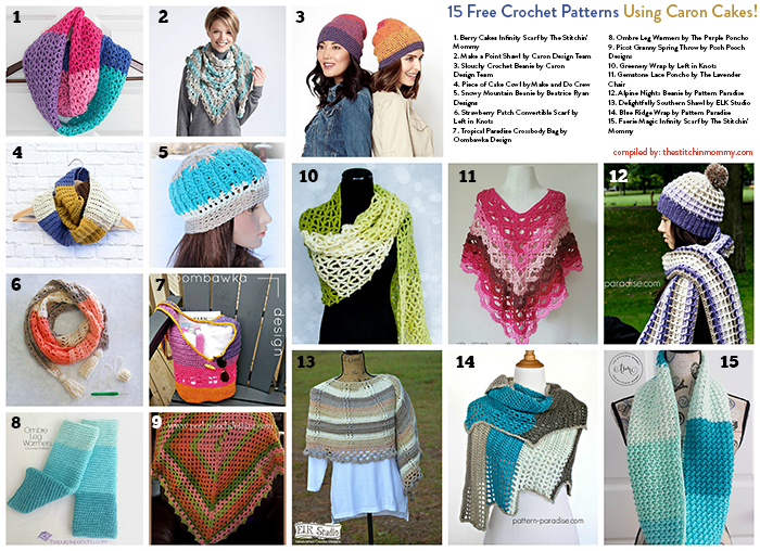 15 Free Crochet Patterns Using Caron Cakes | San valentín, Día de y ...