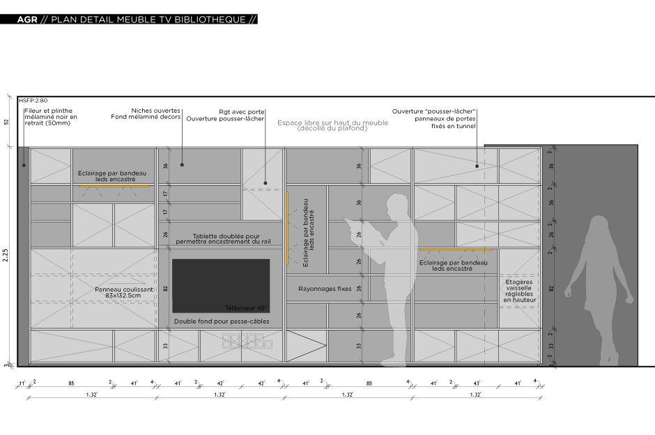Rénovation du0027un appartement contemporain à Lyon avec un meuble - location appartement meuble toulouse