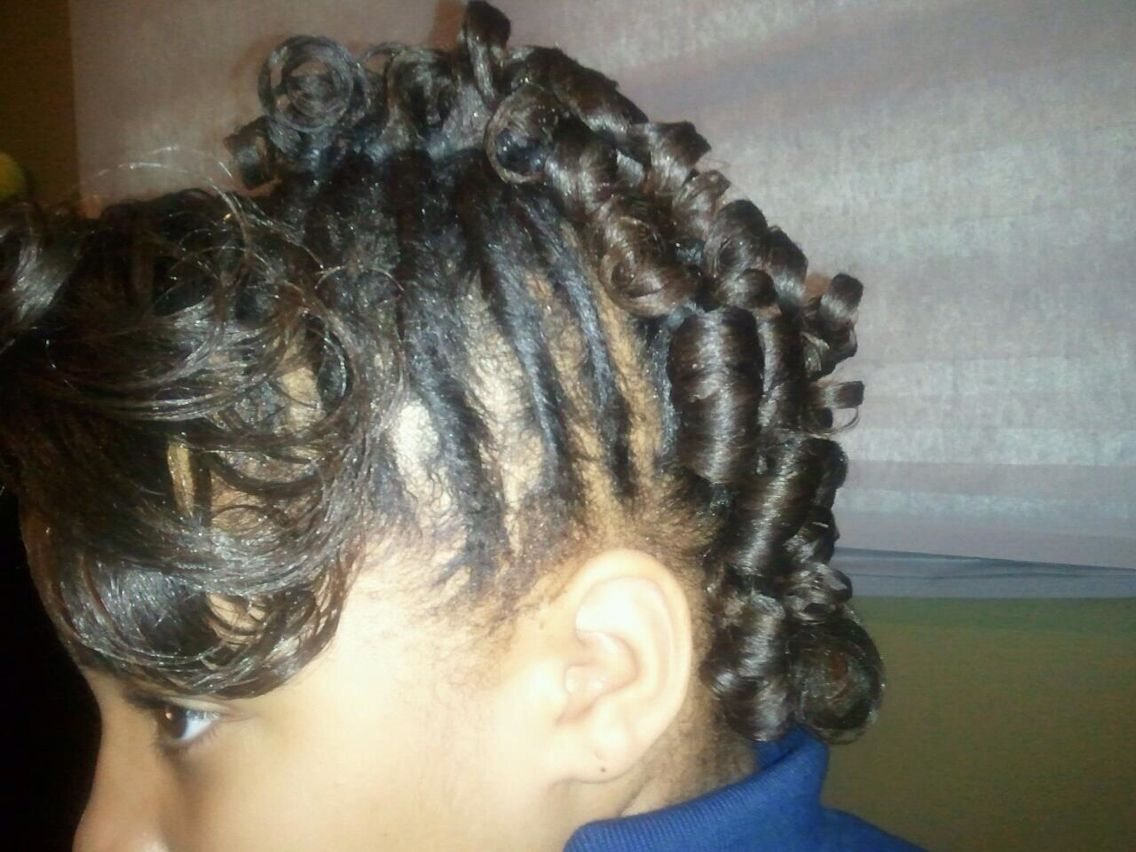 Twisted mohawk hair story pinterest