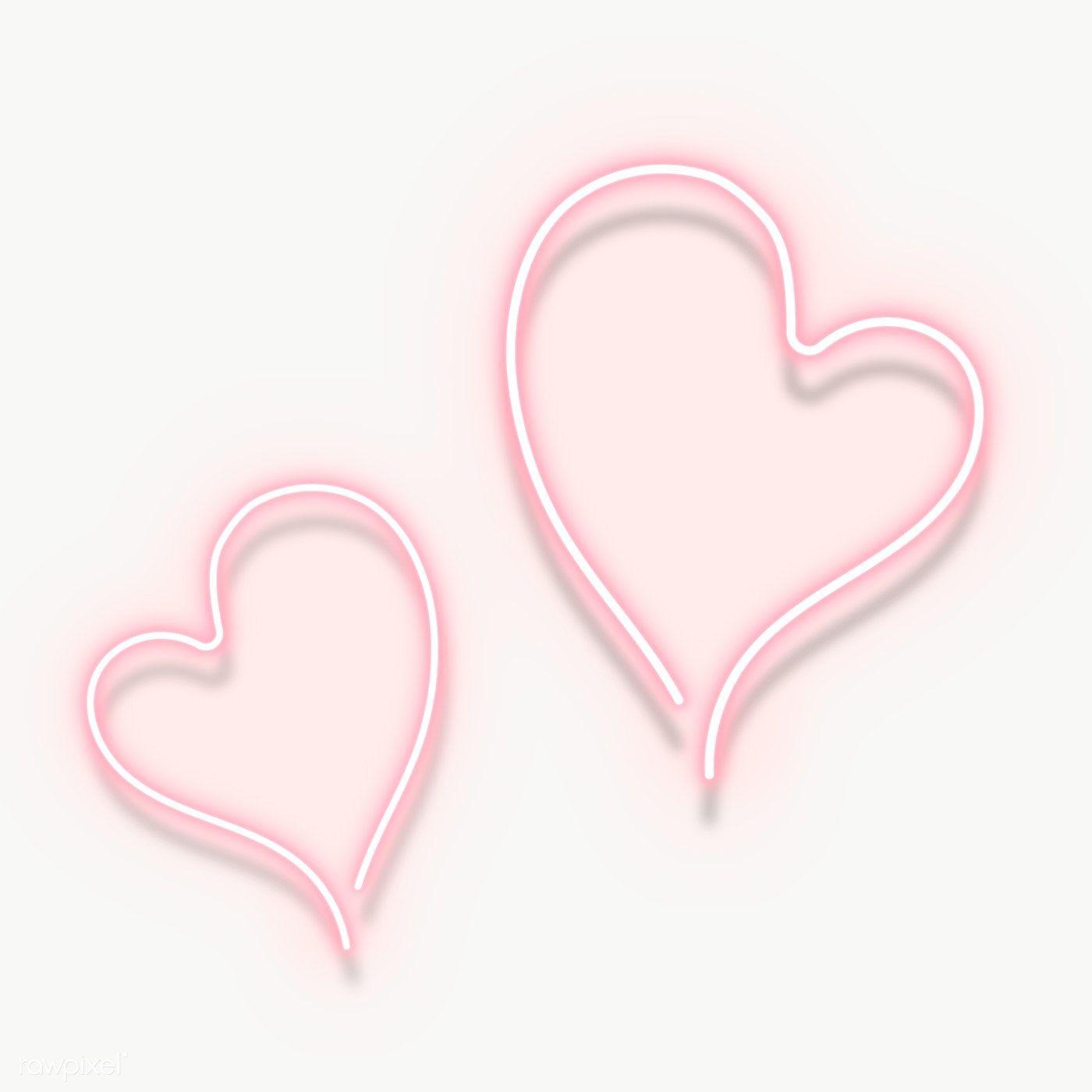 Pink Neon Double Hearts Transparent Png Premium Image By Rawpixel Com Aew Neon Typography Pink Neon Lights Neon